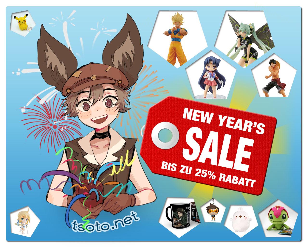 Neujahrs-Sale 2019 mit bis zu 25% Rabatt